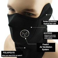 Neoprene Half Cover Black Face Ski Mask Wind Resistant Winter Snow Balaclava