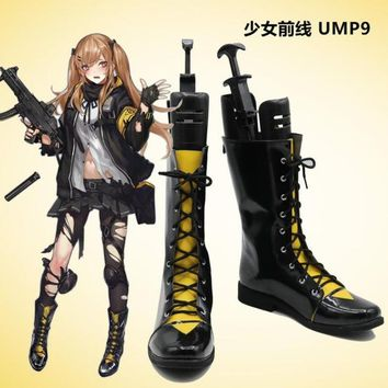 2018 New Game Girls Frontline UMP9 Cosplay Costume Halloween Carnival Battle Unifrom lolita punk Shoes boots