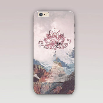 Lotus Mandala Phone Case For - iPhone 6 Case - iPhone 5 Case - iPhone 4 Case - Samsung S4 Case - iPhone 5C