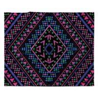 "Nika Martinez ""Neon Pattern"" Fleece Throw Blanket"
