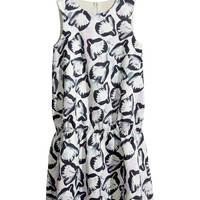 H&M - Patterned Dress - Natural white - Ladies