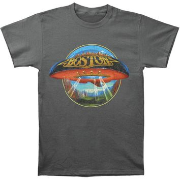 Boston Men's  Distressed Ship T-shirt Charcoal