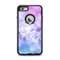 The Blue and Purple Translucent Glimmer Lights Apple iPhone 6 Plus Otterbox Defender Case Skin Set