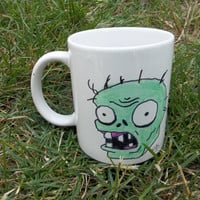 Plants vs. Zombies Hand-Drawn Ceramic Mug, Zombie: 3rd in a Series of 7