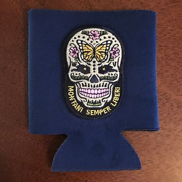 Sugar skull patch can cooler