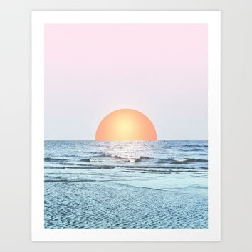 Untypical sunset II Art Print by Viviana Gonzalez