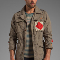 Scotch & Soda Patterned Army Jacket in Green from REVOLVEclothing.com