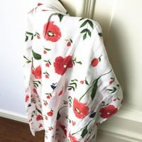 Baby Muslin Blanket Square Extra Long 100% Bamboo