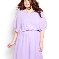 Dolman Sleeve Chiffon Dress | Addition Elle