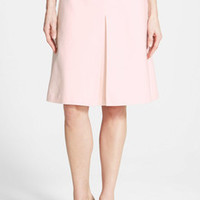 Vince Camuto Pink Pleat Front A-Line Skirt (Petite)