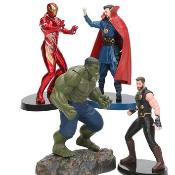 Marvel Avengers 3 Infinity War Super Heroes Iron Man Thor Doctor Strange Hulk PVC Statue Figure Collectible Model Toy