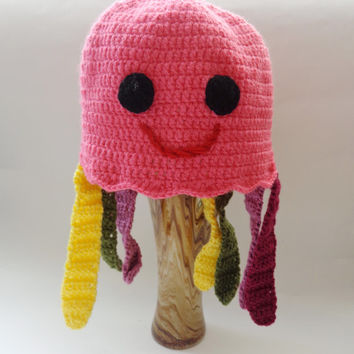 Squidgy Hat Crochet Octopus Toy with colorful tentacles Of Mice & Men