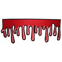 Dripping Blood Ooze Horror Dead Kreepsville Embroidered Iron On Applique Patch
