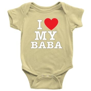 """I Love"" Baba Baby Onesuit"