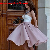 Fast Shipping Sexy womens Cocktail Dresses With Sweetheart Satin Custom Made Cheap Mini Party Prom Dress Gowns 2016 CD001