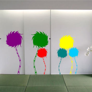 Dr Seuss Color Tuft Truffula Tree Vinyl Wall Decals by InitialYou