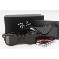 RAY-BAN RAYBAN RB2140 Wayfarer 902 HAVANA Brown Frame with G-15 Sunglasses ~ NIB