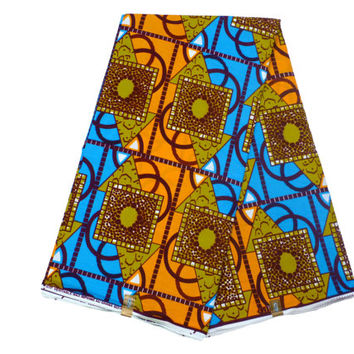 Ankara Fabric by the Yard - African Designer Fabric - Cotton Ankara Print - Ghanaian Dutch Wax - GTP NuStyle