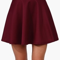 Rad Skater Skirt - Burgundy