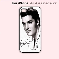 Black and White Elvis Presley Phone Case For iPhone7 7S 7 7Splus iPhone 6 Plus For iPhone 6 For iPhone 5/5S For iPhone 4/4S For iPhone 5C-5 Colors Available