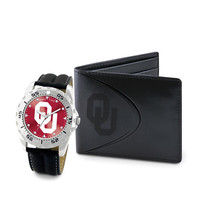 Oklahoma Sooners NCAA Men's Watch & Wallet Set