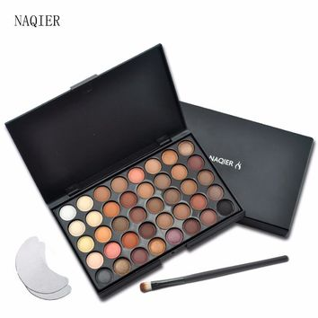 NAQIER 40 Color Matte Eye shadow Pallete Make Up Earth Palette EyeShadow Makeup Glitter Waterproof Lasting Makeup Easy to Wear