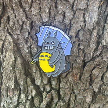 Totoro Morton Salt Jawbreaker Soft Enamel Lapel Pin