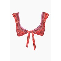 Cap Sleeve Front Tie Bikini Top - Indonesia