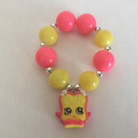 Shopkins Foodie Bracelet - Fairy Crumbs - repurposed toys