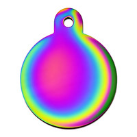 Quick-Tag Rainbow Circle Personalized Engraved Pet ID Tag