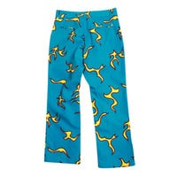 CHINO PANTS - FLAMES BLUE/YELLOW