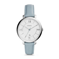 Jacqueline Three-Hand Leather Watch - Blue
