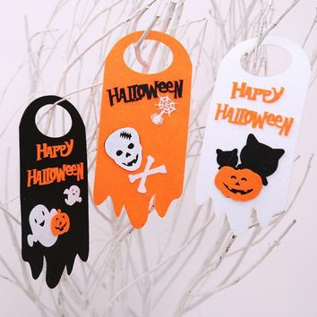 Happy Halloween holiday prop Pumpkin ghost skeleton cat door hanger Hotel bar mall Halloween party scene decoration