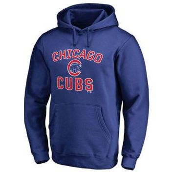 Chicago Cubs MLB Blue Fastball Fleece Pullover Hoodie