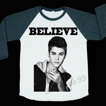 Justin Bieber Believe Shirt Bieber Shirt The Biebs Shirt Pop Rock Shirt Baseball Shirt Long Sleeve Shirt Women Shirt Unisex Shirt Size S,M,L