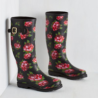 Splash of Panache Rain Boot in Roses