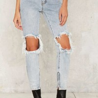 One Teaspoon Freebird Skinny Jeans - Blue Malt