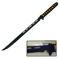 Ace Martial Arts Supply Stainless Full Tang Blade LED Light Ninja Sword/Knife/Machete with Sheath, 27-Inch