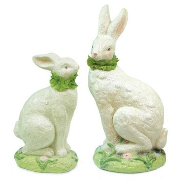 2 Easter Figures - Crackled Finish