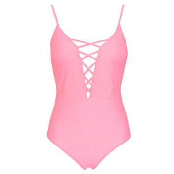 Women's Summer Lace Up One Piece