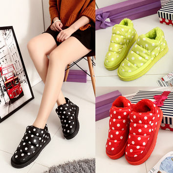 Winter Cotton Shoes Thicken Waterproof Low-cut Ladies Boots [9432941450]
