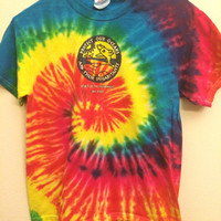 Vintage Tie-Dye Save Our Oceans and Their Inhabitants Fish Dolphins Water Beach Youth 14-16
