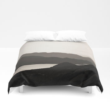 Mountains and a lake Duvet Cover by ARTbyJWP