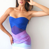 Elvira Ombre Bandage Dress