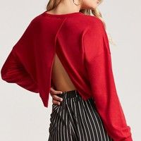 Cropped Tulip Back Sweater