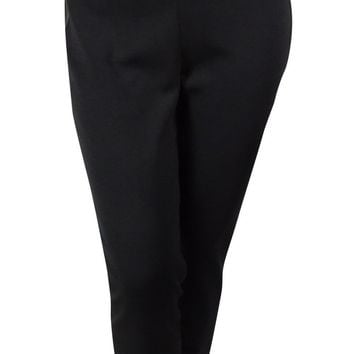 St. John Caviar Women's Alexa Leather Trim Milano Pants