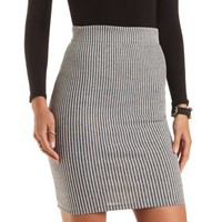 Ribbed Bodycon Pencil Skirt by Charlotte Russe