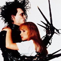 Johnny Depp Winona Ryder embracing each other Edward Scissorhands 24X30 Poster