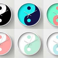 Yin Yang Wall Clocks Art Print by Beautiful Homes