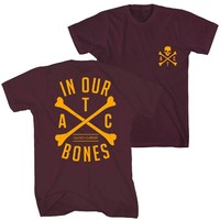 Cross Bones T-Shirt (Maroon) - Apparel